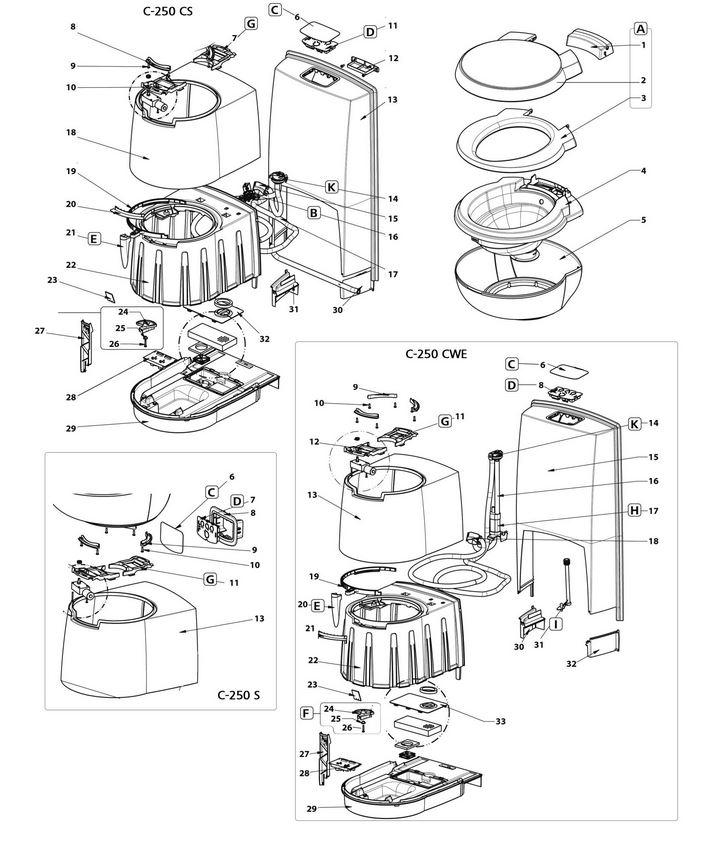 thetford abdeckung f r bedienelement f r toilette c250 301. Black Bedroom Furniture Sets. Home Design Ideas