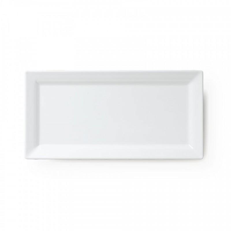 Q Squared Diamond Collection Platte Servierplatte 36 cm x 17,5 cm Weiss 100% Melamin - 010013